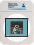 Explorers:Space Exploration, Apollo 12 Original NASA Glass Slide, a Lunar Surface Image of Alan Bean, Directly From The Armstrong Family Collection™, C...