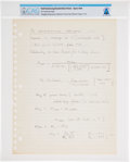 Explorers:Space Exploration, Neil Armstrong's Handwritten Notes Regarding Spacesuit Technology, Page 3 of 3, Directly From The Armstrong Family Collection™...