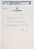 Explorers:Space Exploration, Robert Taft, Jr. 1971-Dated Typed Letter Signed to Neil Armstrong Regarding Him Joining the University of Cincinnati Faculty, ...