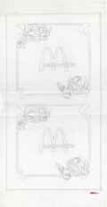 Original Comic Art:Miscellaneous, Golden Arches and Gobblins Etched Glass Design Original Art andPrint (McDonald's/Setmakers, 1984)....