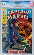 Silver Age (1956-1969):Superhero, Captain Marvel #16 (Marvel, 1969) CGC NM+ 9.6 White pages....