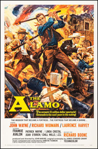 "The Alamo (United Artists, 1960). Very Good+ on Linen. One Sheet (27"" X 41.5""). Reynold Brown Artwork. Western..."