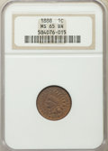 Indian Cents, 1888 1C MS65 Brown NGC. NGC Census: (27/1). PCGS Population: (14/0). CDN: $450 Whsle. Bid for problem-free NGC/PCGS MS65. M...
