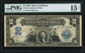 Large Size:Silver Certificates, Fr. 258 $2 1899 Silver Certificate PMG Choice Fine 15 Net.. ...