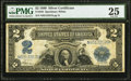 Large Size:Silver Certificates, Fr. 258 $2 1899 Silver Certificate PMG Very Fine 25.. ...
