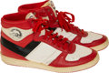 Basketball Collectibles:Others, 1985-86 Orlando Woolridge Game Worn & Signed Sneakers - First Air Jordan Inspired Sneakers.... (Total: 2 items)