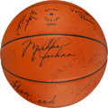 Basketball Collectibles:Balls, 1984 U.S. Men's Olympic Basketball Team Signed Basketball....