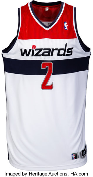 2013-14 John Wall Game Worn Washington Wizards Jersey....  082f77c82