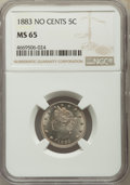 Liberty Nickels: , 1883 5C No Cents MS65 NGC. NGC Census: (1930/550). PCGS Population: (1680/518). MS65. Mintage 5,479,519. ...