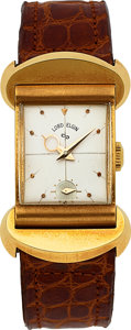 Timepieces:Wristwatch, Elgin Rare 18k Lord Elgin Commemorative Wristwatch. ...