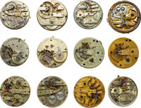Thirty Two High Grade & Complicated Pocket Watch Movements Lot to benefit the Texas Scottish Rite Children's Hos...