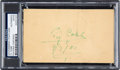 Baseball Collectibles:Others, 1951 Ty Cobb Signed Government Postcard. ...