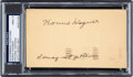 Baseball Collectibles:Others, 1951 Honus Wagner Signed Government Postcard with Response, PSA/DNA Mint 9. ...