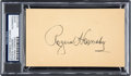 Baseball Collectibles:Others, 1951 Rogers Hornsby Signed Government Postcard. ...