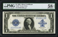 Large Size:Silver Certificates, Fr. 238 $1 1923 Silver Certificate PMG Choice About Unc 58 EPQ.....