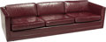 Furniture : American, Ward Bennett (American, 1917-2003). Sofa, circa 1970.Leather, stained wood. 28 x 95 x 33 inches (71.1 x 241.3 x 83.8cm...