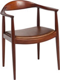 Furniture , Hans J. Wegner (Danish, 1914-2007). The Chair, designed 1949, 1950s, Johannes Hansen. Teak, leather. 30 x 25 x 20 in...