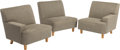 Furniture : American, George Nelson (American, 1908-1986). Three-Piece Sectional Sofa#4681/83/84, designed 1952, Herman Miller. Birch, fabric...(Total: 3 Items)