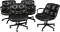 Furniture , Charles Pollock (American, 1930-2013). Four Executive Office Chairs, designed 1965, of recent production, Knoll. Aluminu... (Total: 4 Items)