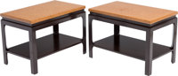 Paul Frankl (American, 1886-1958) Pair of Side Tables, circa 1950, Johnson Furniture Co. Mahogany, c