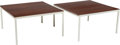 Furniture, Florence Knoll (American, b. 1917). Pair of T-Angle Side Tables, designed 1952, Knoll Associates. Mahogany and enameled ... (Total: 2 Items)