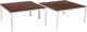 Florence Knoll (American, b. 1917) Pair of T-Angle Side Tables, designed 1952, Knoll Associates Mahogany and enameled...