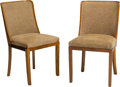 Furniture , Otto Schulz (German, 1882-1970). Two Side Chairs, circa 1925, Boet. Birch, rosewood, fabric. 34 x 18-1/2 x 19 inches (86... (Total: 2 Items)