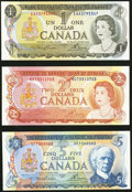 Canadian Currency, A Complete Canadian Denomination Set from the 1970s.. ... (Total: 7notes)