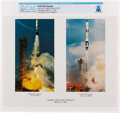 Explorers:Space Exploration, Gemini 8: NASA Agena and Gemini Launch Color Photo Directly From The Armstrong Family Collection™, Certified and Encapsula...