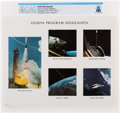"Explorers:Space Exploration, Gemini: NASA ""Gemini Program Highlights"" Color Photo Directly From The Armstrong Family Collection™, Certified and Encapsu..."