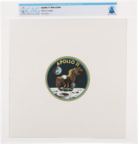 Apollo 11 Unflown Beta Cloth Mission Insignia Directly From The Armstrong Family Collection™, Certified and Encaps