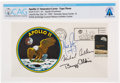 "Explorers:Space Exploration, Apollo 11 Crew-Signed ""Type Three"" Insurance Cover Directly From The Armstrong Family Collection™, Certified and Encapsula..."