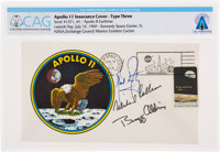 """Apollo 11 Crew-Signed """"Type Three"""" Insurance Cover Directly From The Armstrong Family Collection™, Certified a..."""