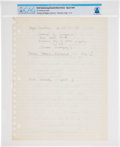 Explorers:Space Exploration, Neil Armstrong's Handwritten Notes Regarding Spacesuit Technology, Page 1 of 3, Directly From The Armstrong Family Collection™...
