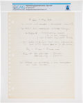 Explorers:Space Exploration, Neil Armstrong's Handwritten Notes Regarding Spacesuit Technology, Page 2 of 3, Directly From The Armstrong Family Collection™...