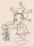 Animation Art:Production Drawing, Mickey's Mellerdrammer Mickey Mouse Animation Drawing (WaltDisney 1933). ...