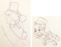 Animation Art:Production Drawing, Mother Goose Goes Hollywood W. C. Fields and CharlieMcCarthy Animation Drawings Group of 2 (Walt Disney, 1938)....(Total: 2 Original Art)