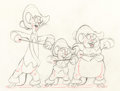 Animation Art:Production Drawing, Three Blind Mouseketeers Animation Drawing (Walt Disney, 1936). ...