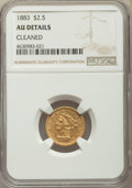 1883 $2 1/2 -- Cleaned -- NGC Details. AU....(PCGS# 7835)