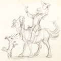 Animation Art:Concept Art, Marc Davis - Walt Disney World Cowboy Concept Sketch Original Art(Walt Disney, c. 1970s)....