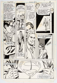 Curt Swan and Dave Hunt Superman #392 Story Page 2 Original Art (DC, 1984)