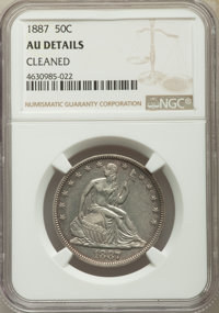 1887 50C -- Cleaned -- NGC Details. AU. NGC Census: (1/87). PCGS Population: (8/117). CDN: $700 Whsle. Bid for problem-f...