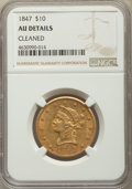 Liberty Eagles, 1847 $10 -- Cleaned -- NGC Details. AU. NGC Census: (149/801). PCGS Population: (100/204). AU50. Mintage 862,258.. From...