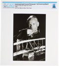 Explorers:Space Exploration, Neil Armstrong Signed Later Portrait with Wright Flyer Model Directly From The Armstrong Family Collection™, Certified and Enc...