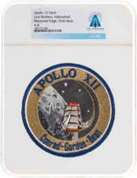 Apollo 12: Neil Armstrong's Personally-Owned Lion Brothers Hallmarked Mission Insignia Patch Directly From The Arm