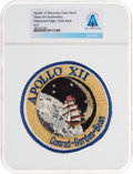 Explorers:Space Exploration, Apollo 12: Neil Armstrong's Personally-Owned Mission Insignia Recovery Crew Patch Directly From The Armstrong Family Colle...