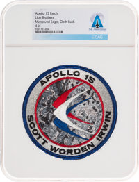 Apollo 15: Neil Armstrong's Personally-Owned Lion Brothers Mission Insignia Patch Directly From The Armstrong Fami
