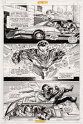 Original Comic Art:Panel Pages, Eddy Newell, Chris Batista, Chip Wallace, and Sergio CarielloBlack Lightning # 7 Original Art (DC, 1995)....