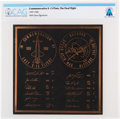 Explorers:Space Exploration, X-15: Final Flight Commemorative Plaque Directly From The Armstrong Family Collection™, Certified and Encapsulated by Coll...