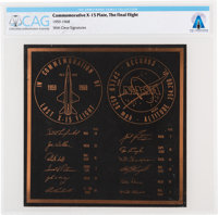 X-15: Final Flight Commemorative Plaque Directly From The Armstrong Family Collection™, Certified and Encapsulated